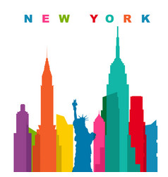 multicolored new york city flat vector image vector image