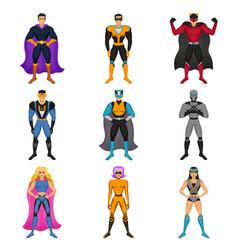 superhero costumes set vector image