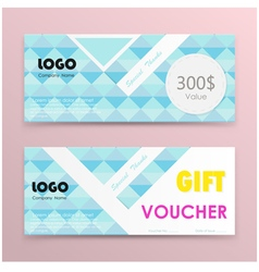 Gift voucher background or certificate coupon vector image vector image