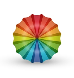 Rainbow umbrella flower balloon logo icon vector