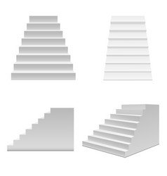 realistic template blank white staircase or stairs vector image