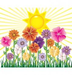 spring day border vector image