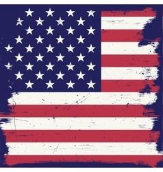 American vintage flag vector image