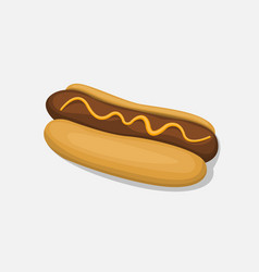hot dog isolated in cartoon style icon on a white vector image