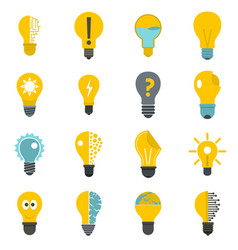 lamp logo icons set in flat style vector image vector image