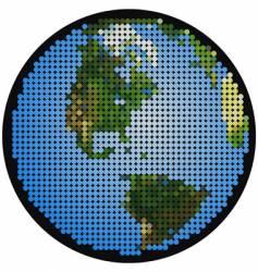 mosaic earth vector image vector image