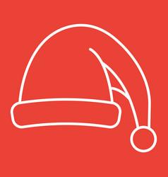 santa hat line icon new year and christmas xmas vector image