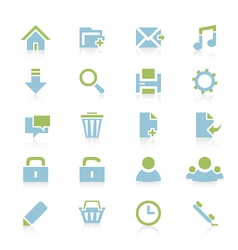 Web icons 6 vector image