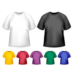 Black and white and color men polo t-shirts Design vector image vector image