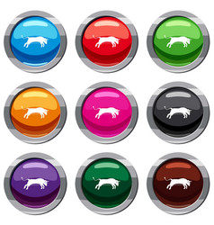 bull set 9 collection vector image