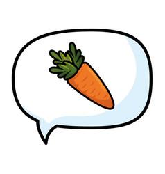 carrot thinking bubble speech vector image