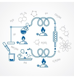 chemical process vector image vector image