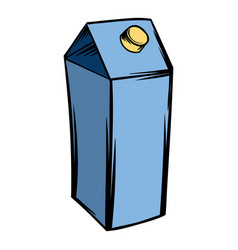 milk or juice carton box icon cartoon vector image