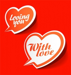 with love enamoured bubbles vector image