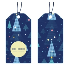 abstract holiday christmas trees vertical round vector image