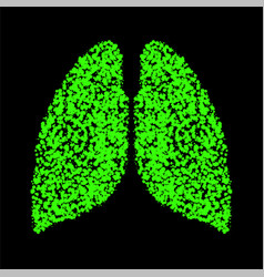 Abstract human lung colorful ink splashes vector