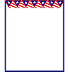 American decorative patriotic card frame vector