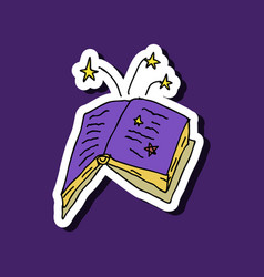 Ancient magic book with alchemy recipes vector