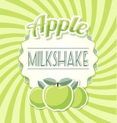 Apple milkshake vector
