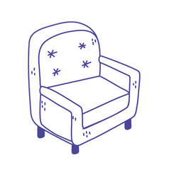 armchair furniture comfort isolated icon design vector image