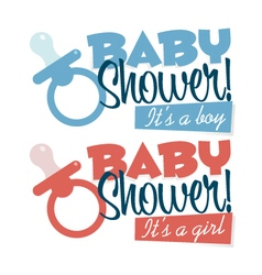 Baby Shower Pacifiers Emblems vector image