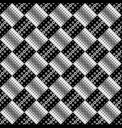 Black and white abstract seamless ring pattern vector