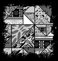 boho black wallpaper vector image