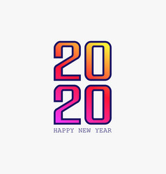 bright paper new year banner design vector image