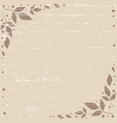 brown background with decorative edges with brown vector image