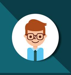 businessman in glasses and necktie portrait vector image