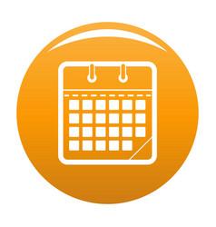 calendar office icon orange vector image