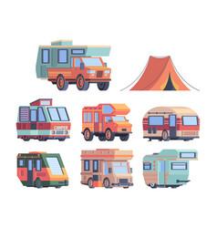camping car caravaners road trip explorer vector image