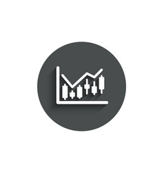 candlestick chart simple icon financial graph vector image