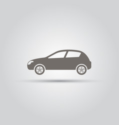 car isolated silhouette icon vector image