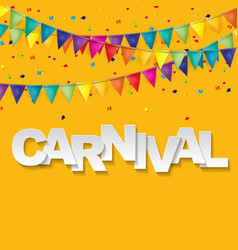 carnival banner with bunting flags and flying vector image