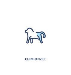 Chimpanzee concept 2 colored icon simple line vector