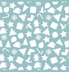 christmas seamless pattern - xmas vector image
