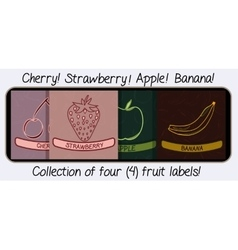 Collection of Four Fruit Flavor Labels vector