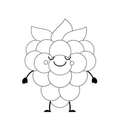 colorless funny cartoon raspberry vector image