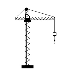 crane hook construction machine pictogram vector image