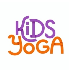Cute colorful logo kids yoga vector