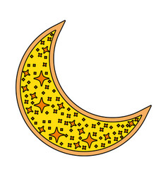 Cute moon crescent isolated icon vector