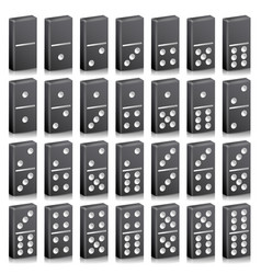 Domino full set realistic 3d vector