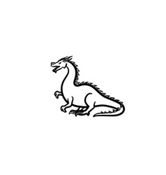 dragon hand drawn sketch icon vector image