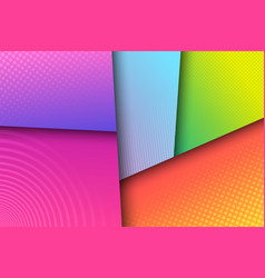 Elegant colorful trendy composition vector
