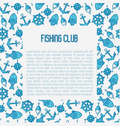 Fishing club concept with fish bobber vector