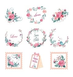 Floral Vintage for Cards and Decor vector image