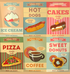 food poster set vector image