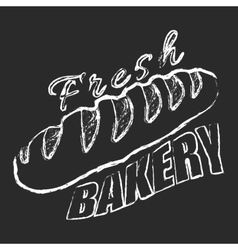 Fresh bakery logo vector image