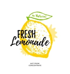Fresh lemonade vector